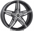 OZ David 7,5J16 5x100 ET35 DIA68 Matt Graphite Diamond Cut